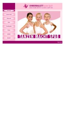 Vorschau der mobilen Webseite www.kinderballett-jasmin-kugler.de, Kinderballett Jasmin Kugler