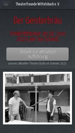 Vorschau der mobilen Webseite www.theaterfreunde-wittelsbach.de, Aichach, Theaterfreunde Wittelsbach e.V.