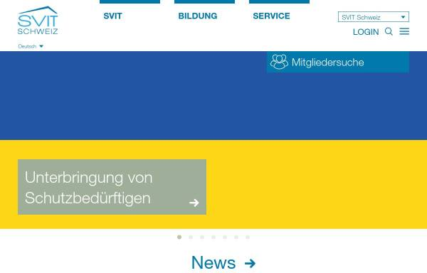 Vorschau von www.svit.ch, SVIT - Schweizerischer Verband der Immobilientreuhänder