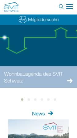 Vorschau der mobilen Webseite www.svit.ch, SVIT - Schweizerischer Verband der Immobilientreuhänder