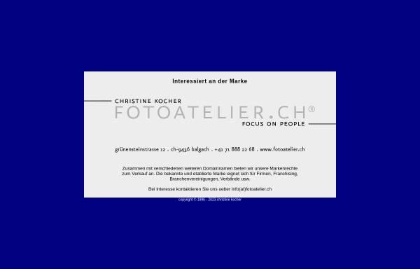 Vorschau von www.fotoatelier.ch, Fotoatelier Christine Kocher