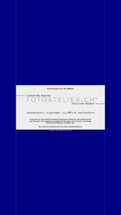 Vorschau der mobilen Webseite www.fotoatelier.ch, Fotoatelier Christine Kocher