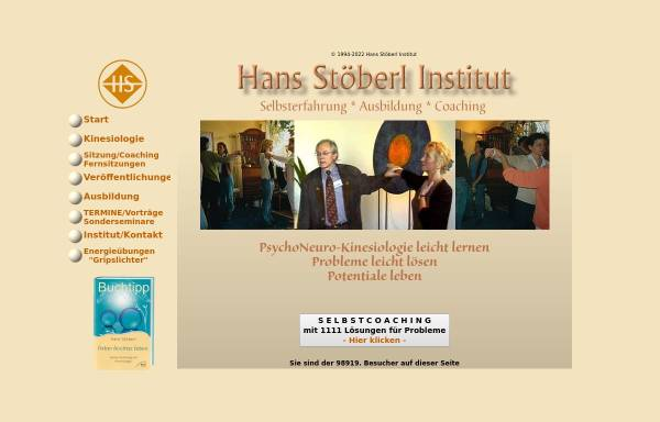 Vorschau von www.kinesiologie-stoeberl.de, Hans Stöberl Institut