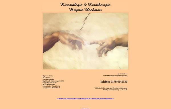 Vorschau von www.kinesiologie-lerntherapie.de, Kinesiologie und Lerntherapie Brigitte Höckmair