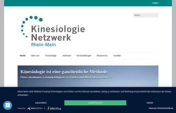 Vorschau von www.kinesiologie-rhein-main.de, Network Kinesiology Rhein-Main (Frankfurt, Germany)