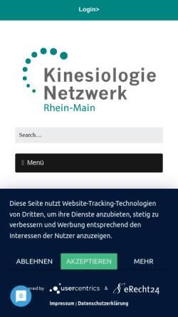 Vorschau der mobilen Webseite www.kinesiologie-rhein-main.de, Network Kinesiology Rhein-Main (Frankfurt, Germany)