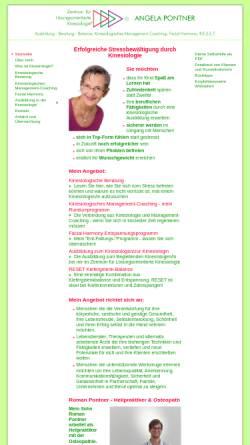 Vorschau der mobilen Webseite www.pontner-kinesiologie.de, Zentrum für Lösungsorientierte Kinesiologie - Angela Pontner