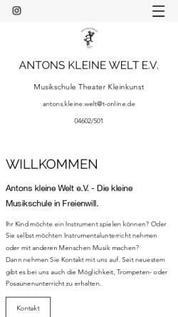 Vorschau der mobilen Webseite antons-kleine-welt.de, Antons kleine Welt