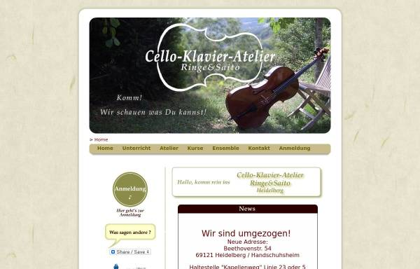 Vorschau von www.cello-klavier-atelier.de, Cello-Klavier-Atelier Ringe & Saito