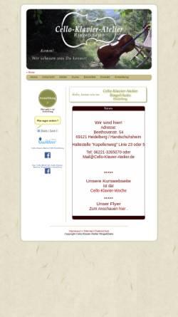 Vorschau der mobilen Webseite www.cello-klavier-atelier.de, Cello-Klavier-Atelier Ringe & Saito