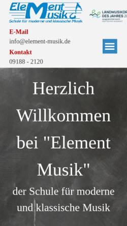 Vorschau der mobilen Webseite www.element-musik.de, Element Musik
