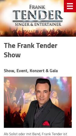 Vorschau der mobilen Webseite www.tender.ch, Frank Tender Musikschule, 8600 Dübendorf