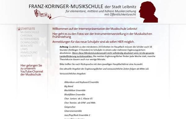 Vorschau von www.musikschule-leibnitz.at, Franz Koringer Musikschule Leibnitz