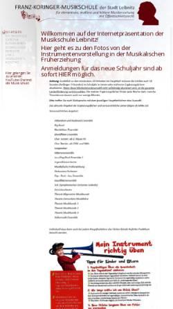 Vorschau der mobilen Webseite www.musikschule-leibnitz.at, Franz Koringer Musikschule Leibnitz