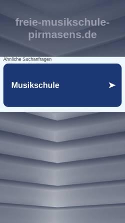 Vorschau der mobilen Webseite freie-musikschule-pirmasens.de, Freie Musikschule Pirmasens - Steffi Sieber-Christ