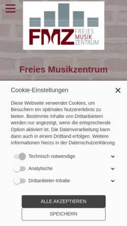 Vorschau der mobilen Webseite www.freie-musikschule.de, Freies Musikzentrum Stuttgart