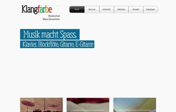 Vorschau von www.klangfarbe-musikschule.de, Klangfarbe Musikschule, Mainz-Gonsenheim