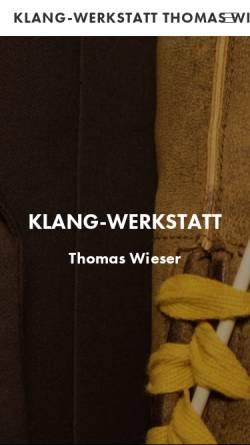 Vorschau der mobilen Webseite www.klang-werkstatt.eu, Klangwerkstatt