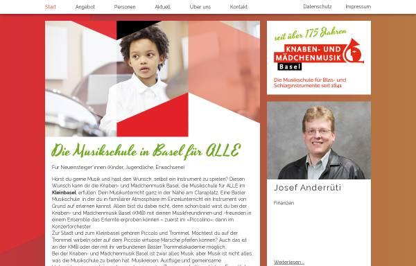 Vorschau von www.kmb.ch, Knabenmusik Basel