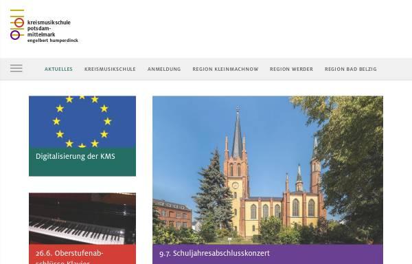 Vorschau von www.kms-pm.de, Kreismusikschule Potsdam-Mittelmark