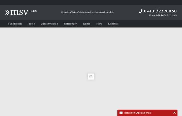 Vorschau von www.msvplus.de, MSVplus Musikschulverwaltungssoftware