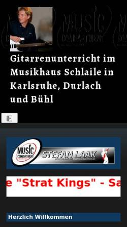 Vorschau der mobilen Webseite sites.google.com, Music Compartment Gitarrenschule