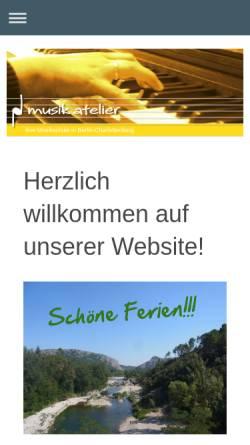 Vorschau der mobilen Webseite musikatelier-berlin.de, musik atelier