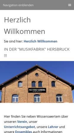 Vorschau der mobilen Webseite www.mtv-hersbruck.de, Musik- und Theaterverein Hersbruck e.V.