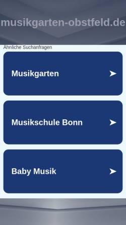 Vorschau der mobilen Webseite musikgarten-obstfeld.de, Musikgarten-Obstfeld
