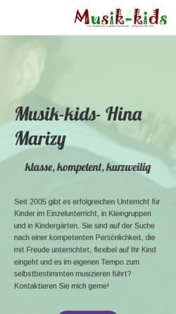 Vorschau der mobilen Webseite www.musik-kids.de, Musik-kids Köln