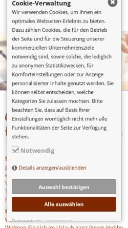 Vorschau der mobilen Webseite www.musikferien.de, Musikkurse und Urlaub