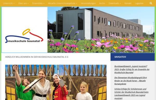 Vorschau von www.musikschule-baunatal.de, Musikschule Baunatal
