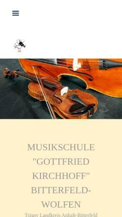 Vorschau der mobilen Webseite www.musikschule-bitterfeld.de, Musikschule Bitterfeld