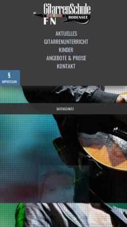 Vorschau der mobilen Webseite www.musikschule-bodensee.de, Musikschule Bodensee, Friedrichshafen