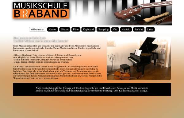 Vorschau von www.musikschule-braband.de, Musikschule Braband