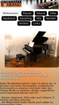Vorschau der mobilen Webseite www.musikschule-braband.de, Musikschule Braband