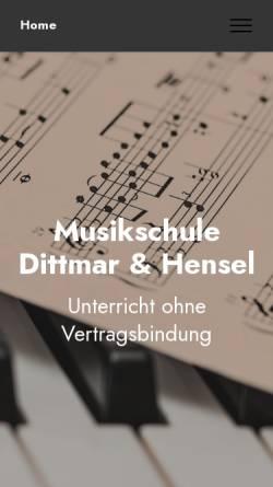 Vorschau der mobilen Webseite musikschule-riedstadt.de, Musikschule Dittmar-Hensel