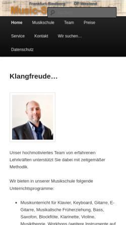 Vorschau der mobilen Webseite www.music-school-haehnlein.de, Musikschule Hähnlein - Frankfurt
