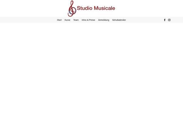 Vorschau von www.studiomusicale.net, Musikschule in Murten und Kerzers