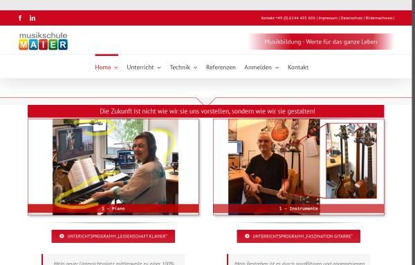 Vorschau von www.musikschulemaier.de, Musikschule Maier