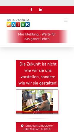 Vorschau der mobilen Webseite www.musikschulemaier.de, Musikschule Maier