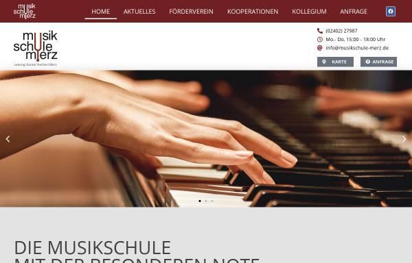 Vorschau von www.musikschule-merz.de, Musikschule Merz in Stolberg/Rhld.