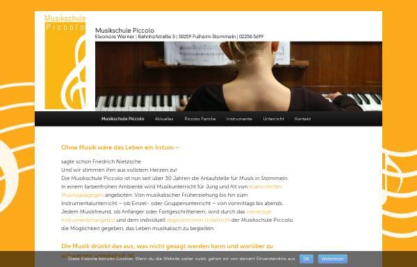 Vorschau von www.musikschulepiccolo.de, Musikschule Piccolo, Pulheim-Stommeln