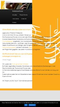 Vorschau der mobilen Webseite www.musikschulepiccolo.de, Musikschule Piccolo, Pulheim-Stommeln