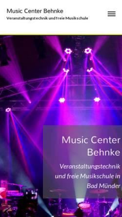Vorschau der mobilen Webseite www.musikschule-bad-muender.de, Musikschule und Fachhandel, Bad Münder