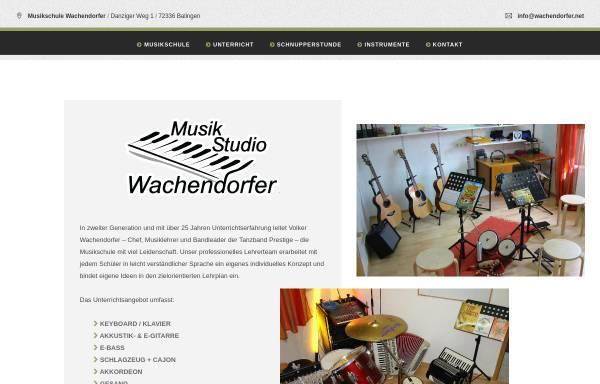 Vorschau von www.wachendorfer.net, Musikschule Wachendorfer