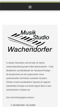 Vorschau der mobilen Webseite www.wachendorfer.net, Musikschule Wachendorfer