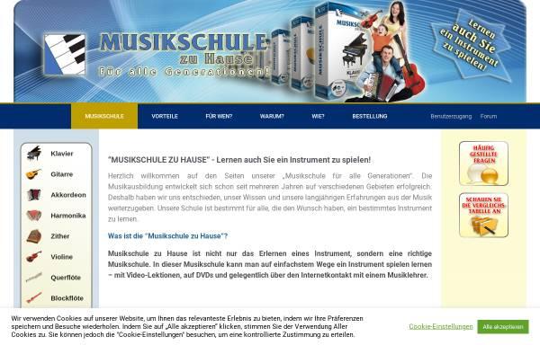 Vorschau von www.musikschule-zuhause.de, Musikschule zu Hause
