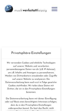 Vorschau der mobilen Webseite www.musikwerkstattleipzig.de, Musikwerkstatt Leipzig