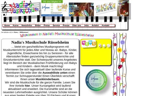 Vorschau von www.nadias-musikschule.de, Nadia's Musikschule Rüsselsheim